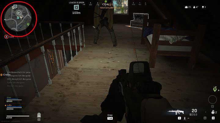 Мини-карта расположена в верхнем левом углу экрана - Warzone: основы игрового процесса - Основы - Руководство по Warzone