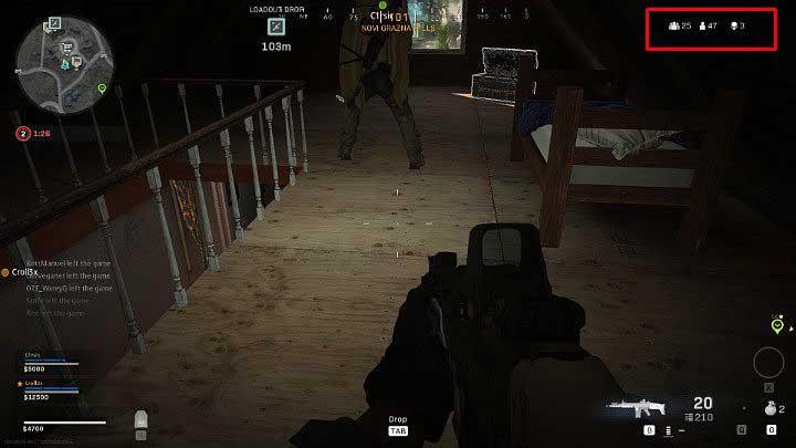 Справа у вас есть информация о вашем количестве убийств во время матча, а также о количестве оставшихся игроков - Warzone: Основы игрового процесса - Основы - Руководство по Warzone