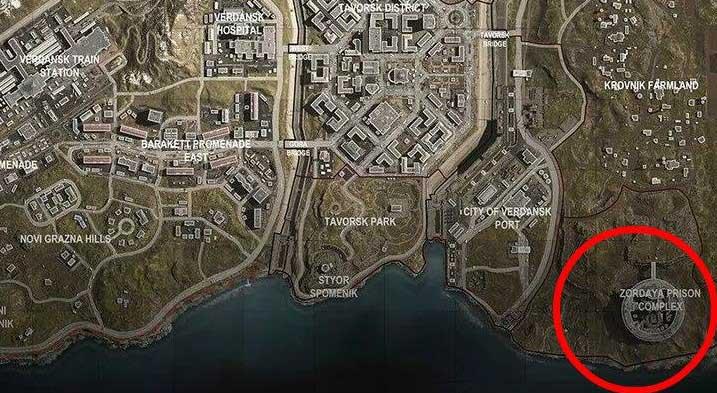 При посадке в тюремном комплексе «Зордая» попытайтесь нацелиться на одну из сторожевых башен - «Боевая зона: лучшие места для приземления» - Основы - Руководство по боевой зоне