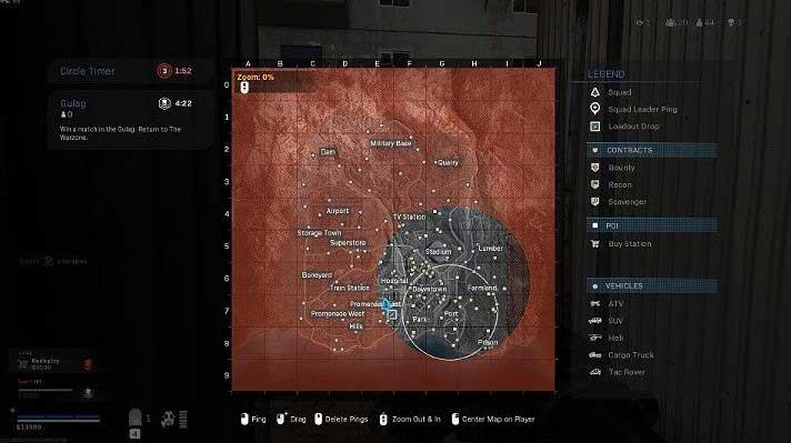 Третий этап сужения зоны длится 2 минуты - Warzone: ход матча - Основы - Руководство по Warzone