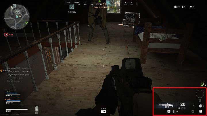 Ваше оружие и количество боеприпасов отображаются в правой части экрана - Warzone: Основы игрового процесса - Основы - Руководство по Warzone