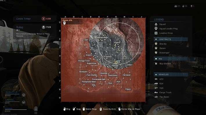 На этом этапе газовое кольцо сжимается намного быстрее, поэтому игрокам нужно реагировать быстрее, если они не хотят подвергаться повреждениям - Warzone: ход матча - Основы - Руководство по Warzone