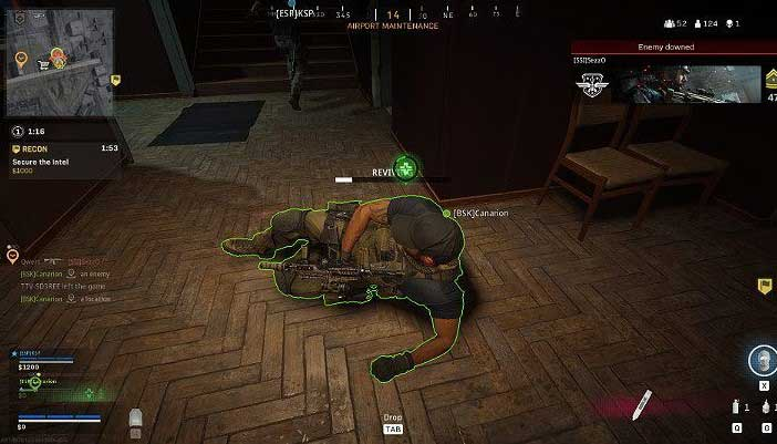 Поднятие нокаутированного игрока занимает несколько секунд, поэтому, прежде чем начинать всю операцию, убедитесь, что поблизости нет противников, которые просто ждут, чтобы сделать выстрел