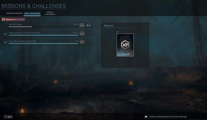 Среди ежедневных испытаний, доступных в Call of Duty Warzone, у вас есть