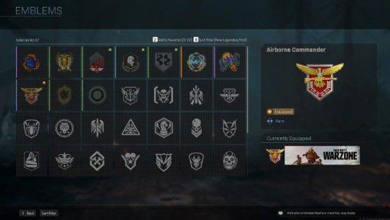 Эмблемы в CoD Warzone открываются так же, как и карты, поэтому их можно заработать в бесплатных подарочных наборах, выполнив определенное задание, из боевого пропуска или из специальных наборов предметов в магазине