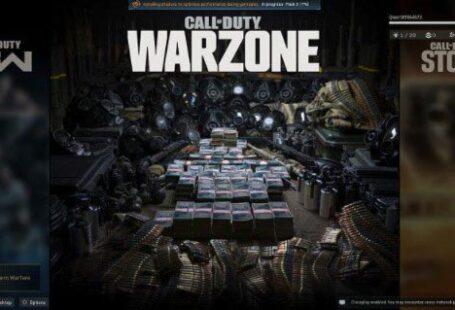 После запуска Call of Duty Warzone на главном экране отобразится информация об установке дополнительных шейдерных пакетов - не прерывайте процесс