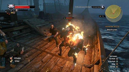Вы должны сражаться с пиратами только во время вашего первого путешествия в Скеллиге